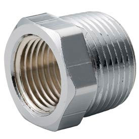 Chrome Plated Brass Pipe Fitting 1-1/4 X 3/4 Hex Bushing Npt Male X Female - Pkg Qty 25