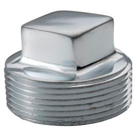Chrome Plated Brass Pipe Fitting 1 Square Head Cored Plug Npt Male - Pkg Qty 25