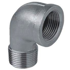 """Iso Ss 304 Cast Pipe Fitting 90 Degree Street Elbow 3"""" Npt Male X Female - Pkg Qty 2"""