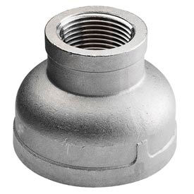 """Iso Ss 304 Cast Pipe Fitting Reducing Coupling 1-1/4"""" X 3/8"""" Npt Female - Pkg Qty 20"""