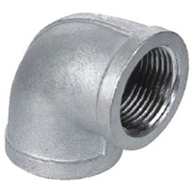 """Iso Ss 316 Cast Pipe Fitting 90 Degree Elbow 3/8"""" Npt Female - Pkg Qty 50"""