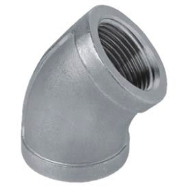 """Iso Ss 316 Cast Pipe Fitting 45 Degree Elbow 2-1/2"""" Npt Female - Pkg Qty 3"""