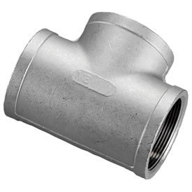 """Iso Ss 316 Cast Pipe Fitting Tee 1-1/4"""" Npt Female - Pkg Qty 10"""