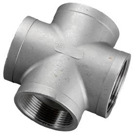 "Iso Ss 316 Cast Pipe Fitting Cross 1-1/4"" Npt Female - Pkg Qty 5"