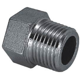 "Iso Ss 316 Cast Pipe Fitting Hex Head Plug 4"" Npt Male - Pkg Qty 2"