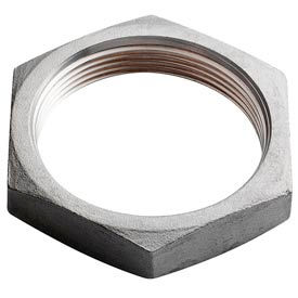 "Iso Ss 316 Cast Pipe Fitting Hex Locknut 3/4"" Npt Female - Pkg Qty 25"