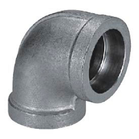 """Mss Ss 304 Cast Pipe Fitting 90 Degree Elbow 2"""" Socket Weld Female - Pkg Qty 5"""
