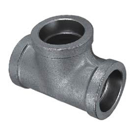 "Mss Ss 304 Cast Pipe Fitting Tee 1-1/2"" Socket Weld Female - Pkg Qty 4"