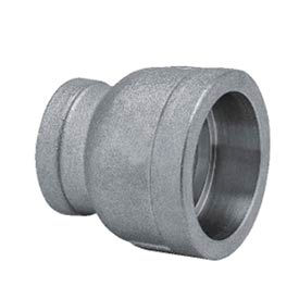 """Mss Ss 316 Cast Pipe Fitting Reducing Coupling 1 X 3/4"""" Socket Weld Female - Pkg Qty 25"""
