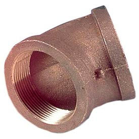 "Brass 125 Lb Lead Free Fitting 3"" 45 Degree Elbow NPT Female"