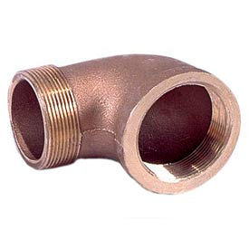 "Brass 125 Lb Lead Free Fitting 3"" 90 Degree Street Elbow NPT Male X Female"