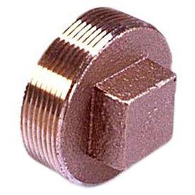 """Brass 125 Lb Lead Free Fitting 3"""" Square Head Solid Plug NPT Female"""