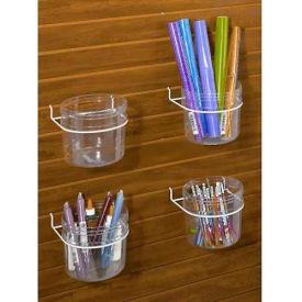 Marv-O-Lus Single Jar Display For Slatwall or Pegboard, 4/Case, 1 Step Design, White, JT-1S