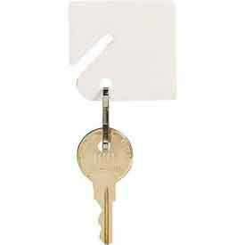 MMF fendue Rack porte-clés avec mousqueton 201300006 blanc plat, sac refermable, Pack 2 de 40 Tags, qté par paquet : 2