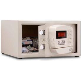 """Mesa coffre-fort hôtel & télésurveillance résidentielle MH101E-KA clé identique, 15 L x 10 H «D x 7», blanc"""""""