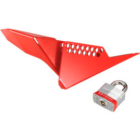 "Master Lock® S3477 Steel Ball Valve Lockout Device (1-1/4"" - 3"" valves)- Pkg Qty 1"