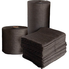 """Universal Dimpled Absorbent Pads, Single Weight, 18"""" x 15"""", Gray, 200/Bale"""