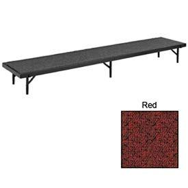 """Colonne montante tout droit avec tapis - 96"""" L x 18"""" W x 8 «H - rouge"""