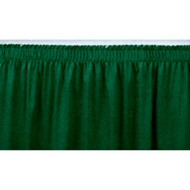 """8'L Shirred-Pleat Skirting for 8""""H Stage - Green"""