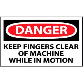 Machine Labels - Danger Keep Fingers Clear Of Machine