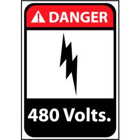 Danger Sign 14x10 Aluminum - 480 Volts