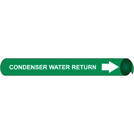 Precoiled and Strap-on Pipe Marker - Condenser Water Return