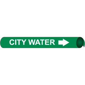 Precoiled and Strap-on Pipe Marker - City Water