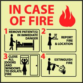 Glow Sign Vinyl - In Case Of Fire