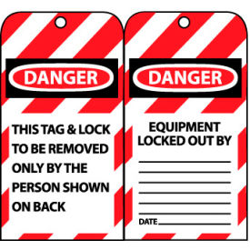 Lockout Tags - This Tag & Lock To Be Removed Only By The Person Shown On Back