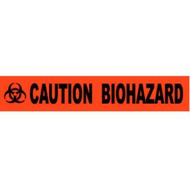 Printed Barricade Tape - Caution Biohazard- Pkg Qty 1