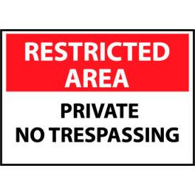 Restricted Area Aluminum - Private No Trespassing