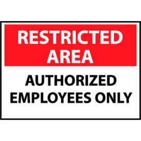 Restricted Area Plastic - Authorized Employees Only