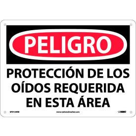 Spanish Plastic Sign - Peligro Proteccion Do Los Oidos Requerida En Esta Area