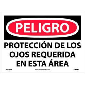 Spanish Vinyl Sign - Peligro Proteccion De Los Ojos Requerida