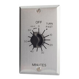 NSI TORK® C560MH 60 Minute Spring Wound Twist Timer with Hold, 125-277V, SPDT, Metal Wallplate