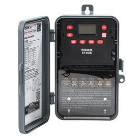 NSI Tork® E103B 24 heure numérique 1 voies, 40 a, 120-277V, SPST, boîtier en plastique intérieur/extérieur