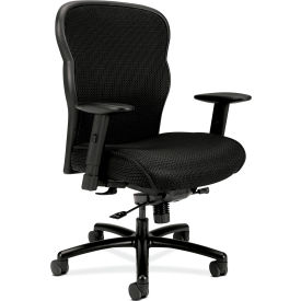 HON® Big and Tall Executive Chair with Mesh Fabric - High Back - Black