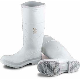 "cd782cbb6fb6c Dunlop Men's Boot, 14"" White Plain Toe W/Safety Lock, PVC, Size 8"