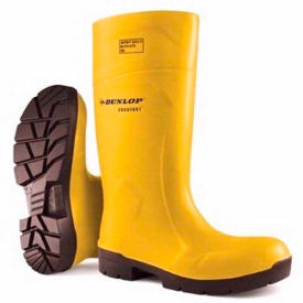 Dunlop®Food Pro Purofort® Yellow Steel Toe Boot, Polyurethane, Size 9