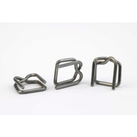 "1/2"" Steel Wire Buckles B-4A for 1/2"" Polypropylene Strapping, 1000 Pack"