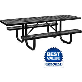 Wheelchair Accessible & ADA Picnic Tables - Heavy Duty Metal - Expandable & Perforated