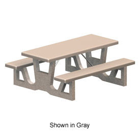 Excellent Picnic Tables Concrete Globalindustrial Ca Home Interior And Landscaping Fragforummapetitesourisinfo