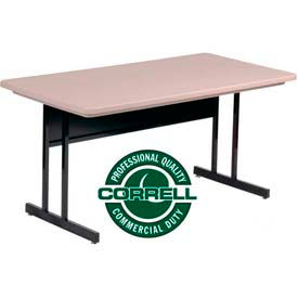 Correll - Computer Tables with Blow Molded Plastic Tops
