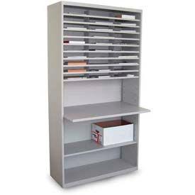 Marvel® 30 compartiment trieur de courrier avec Surface de travail ajustable