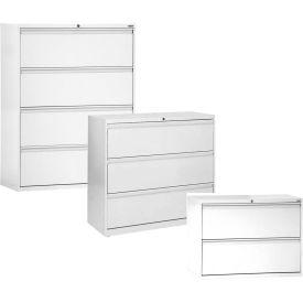 Sandusky 2, 3, 4 & 5 Drawer Lateral Files - Full Width Drawer Pulls