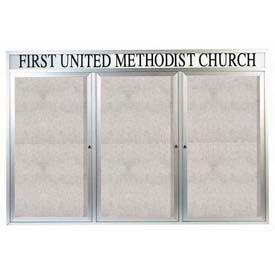 3 Door Illuminated Enclosed Boards With Header