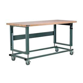 Stackbin Hand Crank Hydraulic Lift Adjustable Height Mobile Workbenches
