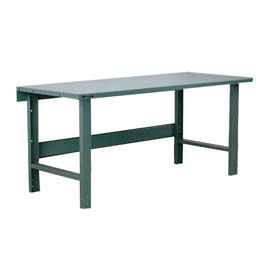 Stackbin Heavy Duty C-Channel Leg Fixed Height Steel Top Workbenches
