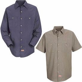 Red Kap® Geometric Micro-Check Work Shirts