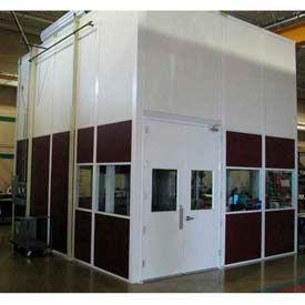 Ebtech préfabriqués modulaires inplanta bureaux - vinyle vêtu, feu de classe C & 28 SC évalué (cadre aluminium)